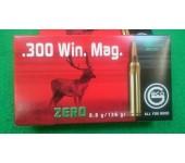"Munições 300 WIN MAG Geco ""ZERO"" 136gr projéctil tipo ""Green"""