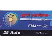 Munições Defesa Prvi Partizan FMJ Calibre 6,35 /  25 Auto